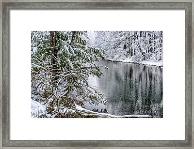 Framed Print featuring the photograph Winter Along Cranberry River by Thomas R Fletcher