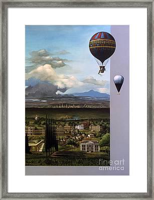 200 Years Of Ballooning Framed Print by Jane Whiting Chrzanoska
