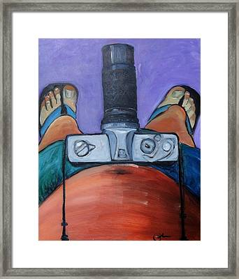 Framed Print featuring the painting 200 Zoom by Gary Coleman