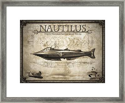 20,000 Leagues Under The Sea Framed Print by Robert Slack