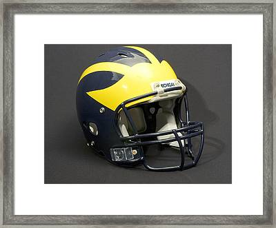 Framed Print featuring the photograph 2000s Wolverine Helmet by Michigan Helmet