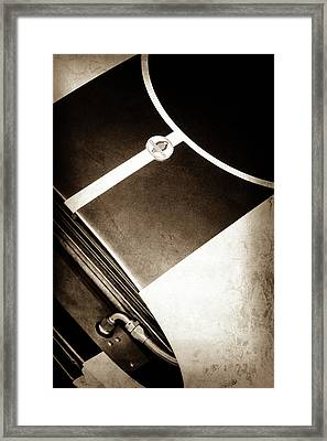 2001 Shelby Cobra Replica Hood Emblem -0355s Framed Print by Jill Reger