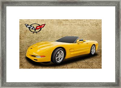 2002 C5 Chevy Corvette Framed Print