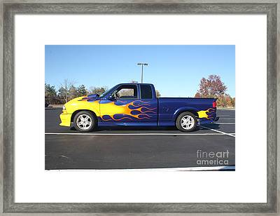 2002 Chevy Pick-up Muscle Truck Framed Print by John Telfer