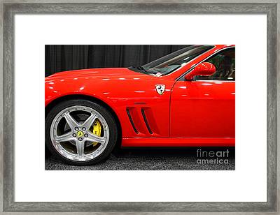 2003 Ferrari 575m . 7d9389 Framed Print by Wingsdomain Art and Photography