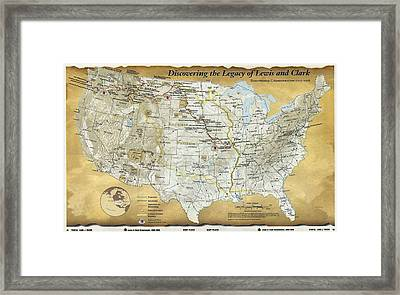 2003 Map Published For The Bicentennial Framed Print by Everett
