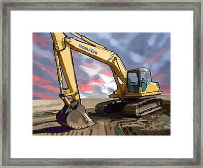 2004 Komatsu Pc200lc-7 Track Excavator Framed Print by Brad Burns