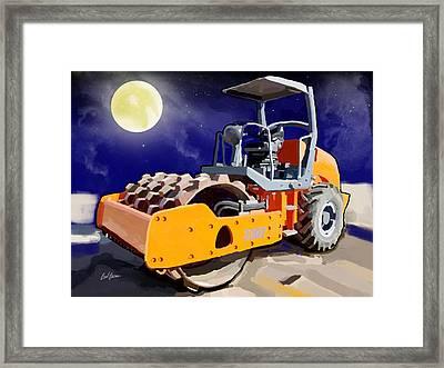 2004 Link Belt 138h5 Lattice Boom Crawler Crane Framed Print by Brad Burns