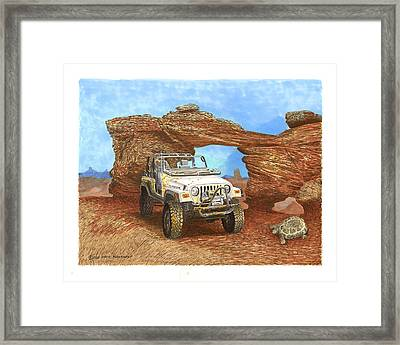 2005 Jeep Rubicon 4 Wheeler Framed Print