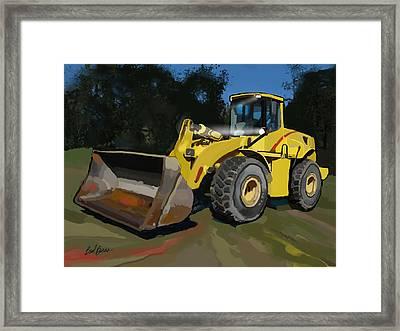 2005 New Holland Lw230b Wheel Loader Framed Print by Brad Burns