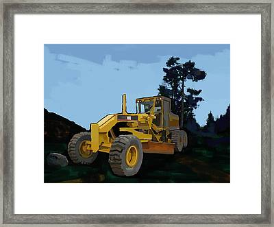 2006 Caterpillar 12h Vhp Plus Motor Grader Framed Print