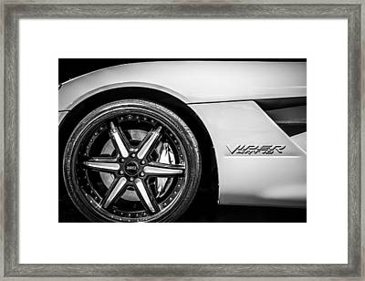 2006 Dodge Viper Srt 10 Wheel Emblem -0053bw Framed Print by Jill Reger