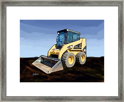 2007 Caterpillar 236b Skid-steer Loader Framed Print by Brad Burns