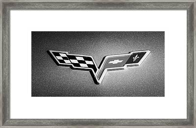 2007 Chevrolet Corvette Indy Pace Car -0301bw Framed Print by Jill Reger
