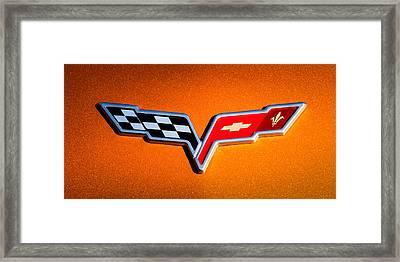 2007 Chevrolet Corvette Indy Pace Car -0301c Framed Print by Jill Reger