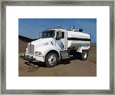 2007 Kenworth T300 Water Truck Framed Print by Brad Burns