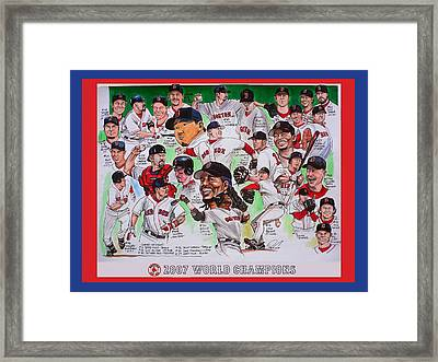 2007 World Series Champions Framed Print