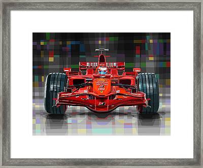 2008 Ferrari F1 Racing Car Kimi Raikkonen Framed Print