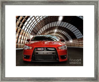 2008 Mitsubishi Lancer Evolution X Framed Print