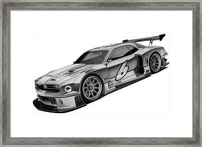 2009 Bo Zolland Dodge Challenger Framed Print by Lyle Brown