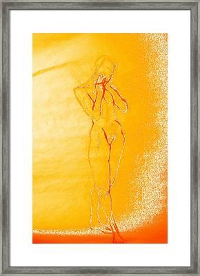 2009 Figure Study 6 Framed Print by Carol Rashawnna Williams