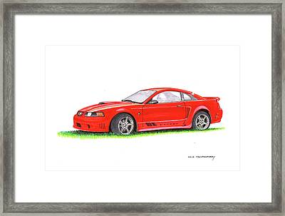 201 Saleen Mustang  Framed Print by Jack Pumphrey