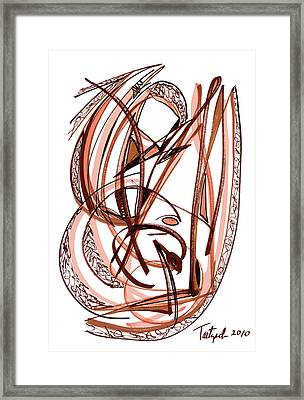 2010 Abstract Drawing Five Framed Print