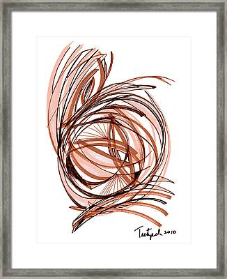 2010 Abstract Drawing Six Framed Print