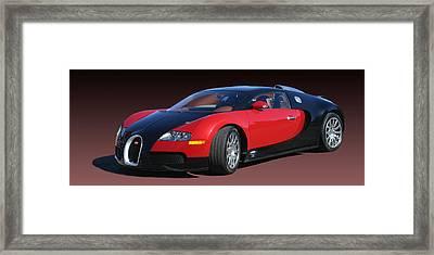 2010 Bugatti Veyron E. B. Sixteen Framed Print