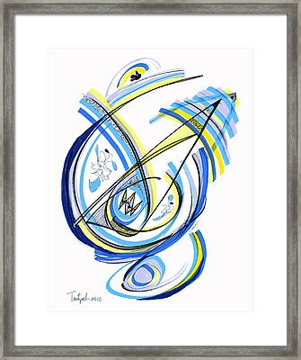 2010 Drawing One Framed Print