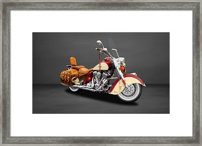 2010 Indian Chief Vintage Motorcycle   -   2010indian22 Framed Print