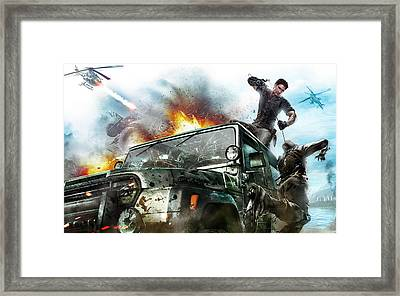 2010 Just Cause 2 Game Framed Print by F S