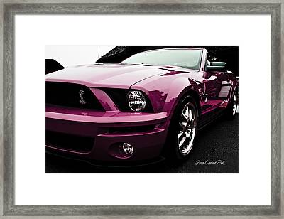 Framed Print featuring the photograph 2010 Pink Ford Cobra Mustang Gt 500 by Joann Copeland-Paul