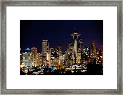 2010 Seattle Earth Hour A350 Framed Print by Yoshiki Nakamura