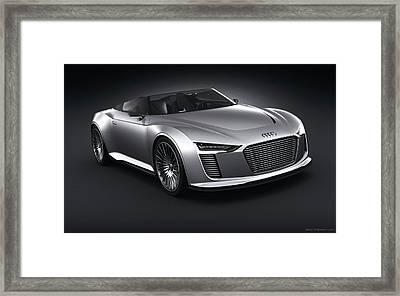 2011 Audi E Tron Spyder Wide Framed Print