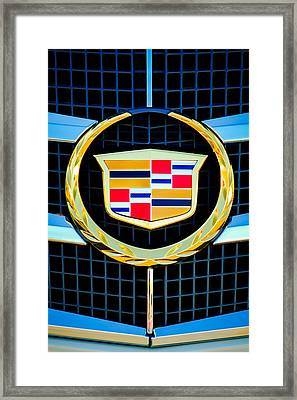 2011 Cadillac Cts Performance Collection Emblem -0584c46 Framed Print by Jill Reger