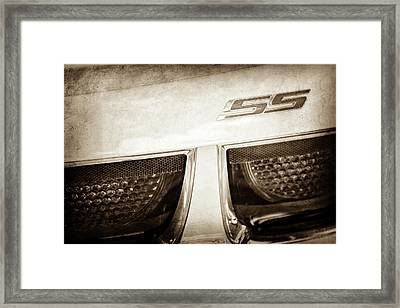 2011 Chevrolet Camaro Indianapolis 500 Pace Car Ss Taillight Emblem -0316s Framed Print by Jill Reger