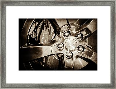 2011 Chevrolet Camaro Indianapolis 500 Pace Car Wheel -0317s Framed Print by Jill Reger