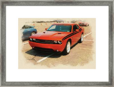 2011 Dodge Challenger R/t Stp Framed Print by Rich Fiddelke