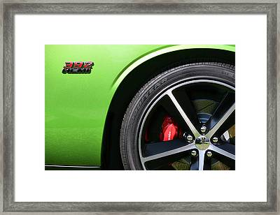 2011 Dodge Challenger Srt8 392 Hemi Green With Envy Framed Print by Gordon Dean II