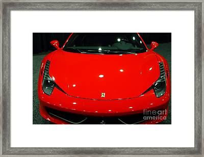 2011 Ferrari 458 Italia . 7d9396 Framed Print by Wingsdomain Art and Photography