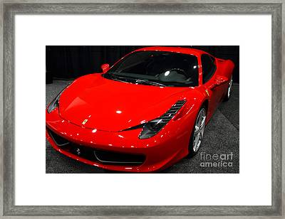 2011 Ferrari 458 Italia . 7d9397 Framed Print by Wingsdomain Art and Photography