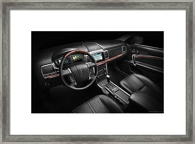 2011 Lincoln Mkz Hybrid Interior Wide Framed Print