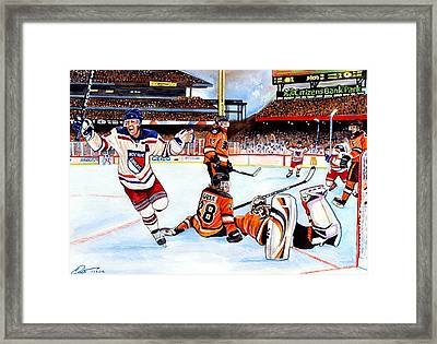 2012 Bridgestone-nhl Winter Classic Framed Print