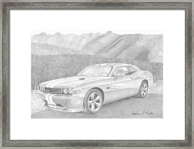 2012 dodge challenger srt8 classic car art print drawing by stephen rooks. Black Bedroom Furniture Sets. Home Design Ideas