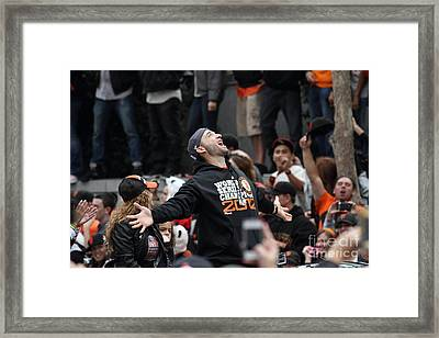 2012 San Francisco Giants World Series Champions Parade - Marco Scutaro - Dpp0008 Framed Print