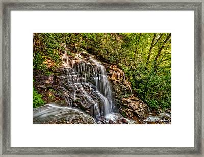 Secluded Falls Framed Print by Christopher Holmes