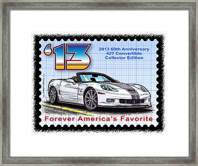 2013 60th Anniversary 427 Convertible Corvette Framed Print