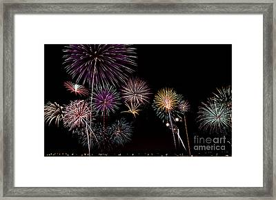 2013 Fireworks Over Alton Framed Print