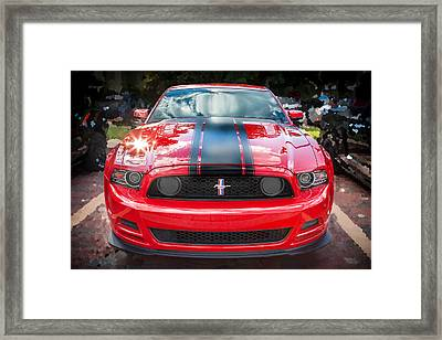 2013 Ford Boss 302 Mustang  Framed Print by Rich Franco